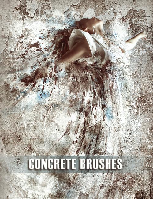 Кисти и Текстуры Стен   Бетон   Штукатурка   Трещины   Concrete Brushes